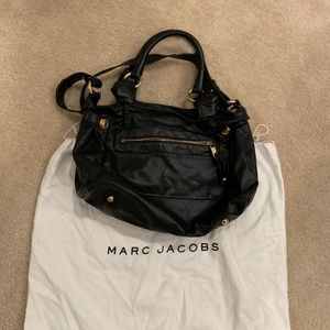 Marc Jacobs black leather East/West Tote